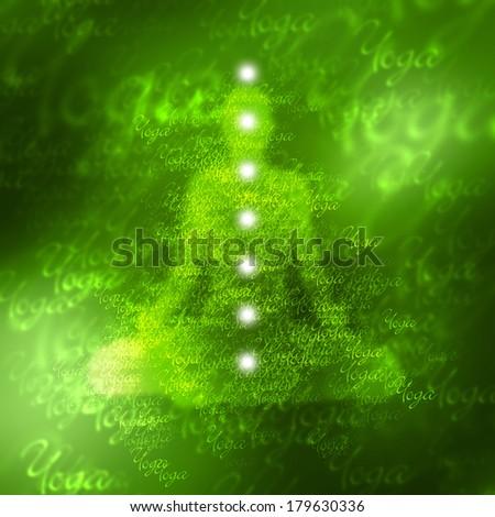 green yoga chakra color concept - 4 of 7 - stock photo