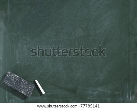 Greenboard / chalkboard texture. With eraser and chalk traces