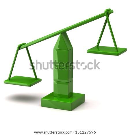 Greene scales on white background - stock photo