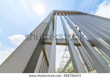 Greenhouse steel structure