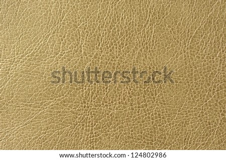 Greenish Brown (Olive) Faux Leather Texture - stock photo