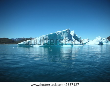 Greenland Iceberg - stock photo