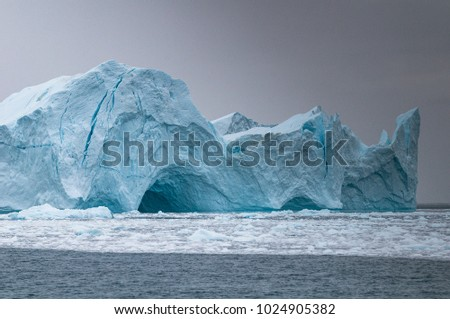 Greenland - Jakobshavn Glacier. It is located near the Greenlandic town of Ilulissat.