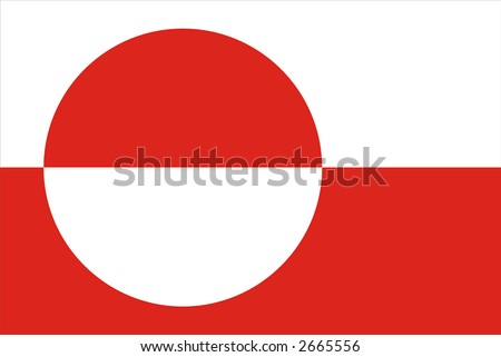 Greenland National Flag Greenland National Flag