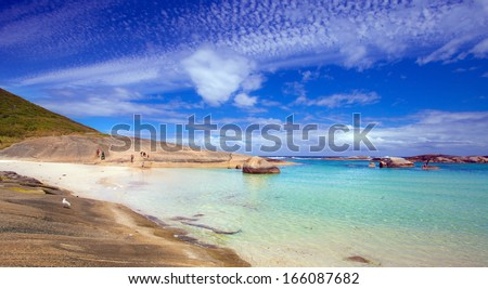 Greens Pool in  William Bay National Park, Western Australia - stock photo