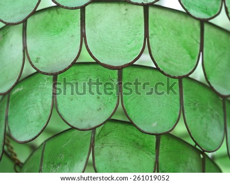 Greenstone lamp detail - stock photo