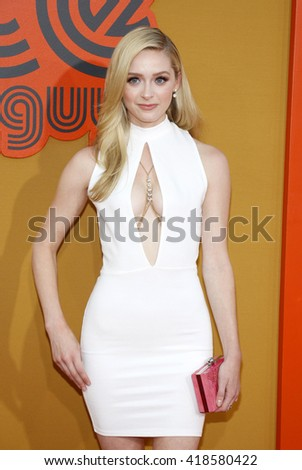 Greer Grammer at the Los Angeles premiere of 'The Nice Guys' held at the TCL Chinese Theatre in Hollywood, USA on May 10, 2016.