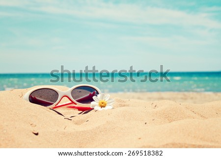 greeting card background - beach holidays
