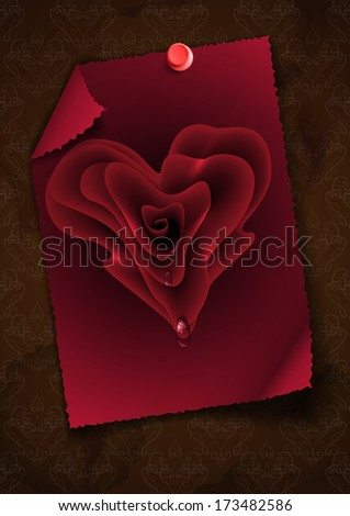Greeting Card Design Template. Happy Valentines Day.