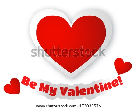 Greeting card for Valentine's Day/Be My Valentine  - stock photo