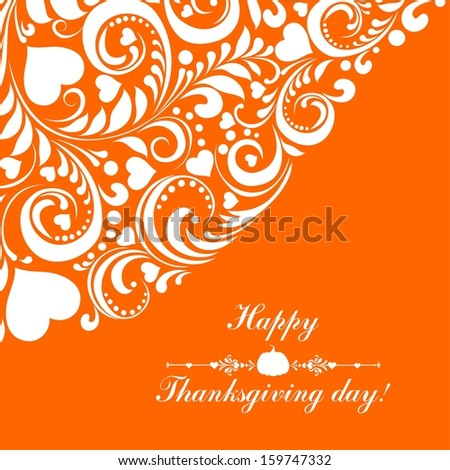 Greeting Card. Happy thanksgiving day card.  Illustration