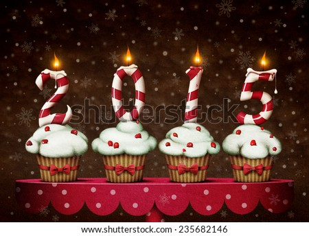 Greeting card or illustration of a Happy New Year - stock photo