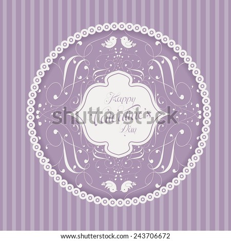Greeting card. Perfect as invitation or announcement. - stock photo