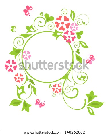 Greeting card. Raster copy of vector image - stock photo