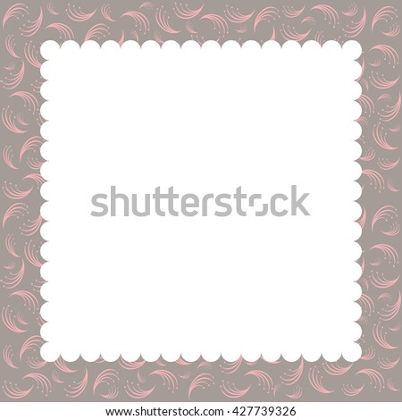 greeting card template. - stock photo