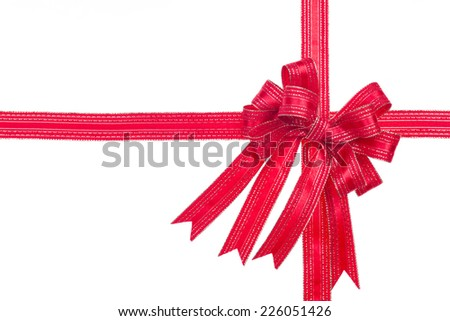 greeting card with a red bow and space for text - stock photo