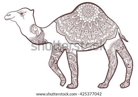 Greeting Card With Camel Ornamemtal Of Animal Perfect Cards Or For Any Other Kind