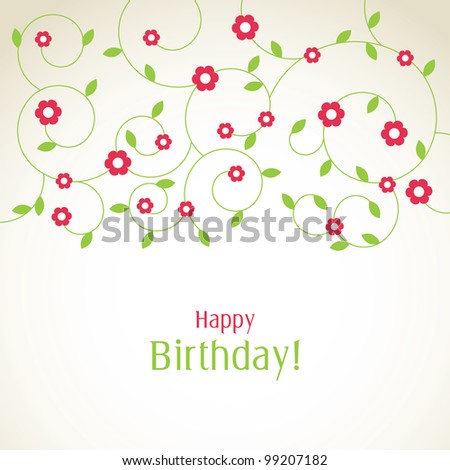 Greeting card with copy space - stock photo