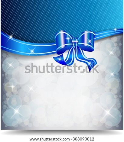 Greeting card with ribbons - stock photo