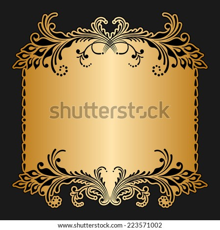 Greeting or invitation card with floral pattern. Raster version. - stock photo