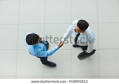 Greeting partner - stock photo