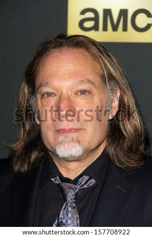 "Greg Nicotero at ""The Walking Dead"" Season Four Premiere, AMC Universal Citywalk Stadium 19,  Universal City, CA 10-03-13 - stock photo"