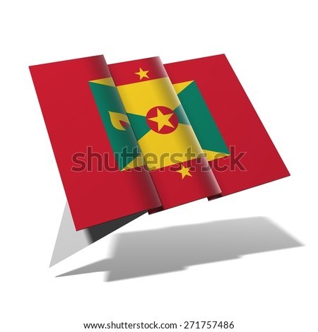 Grenada flag 3D banner - stock photo