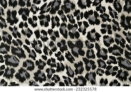 Floral And Cheetah Pattern On Fabric. Brown Leopard Pattern With ...