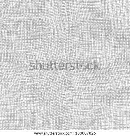 Grey and white grunge striped and checkered weave  cloth texture - stock photo