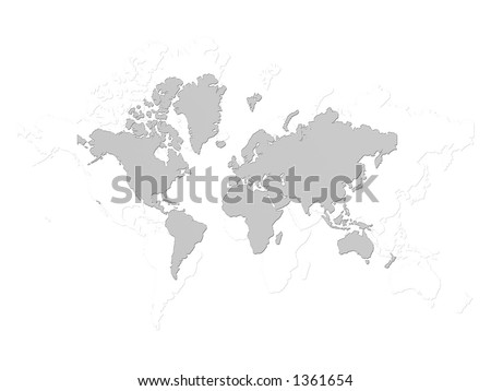 Grey background world map stock illustration 1361654 shutterstock grey background in world map gumiabroncs Image collections