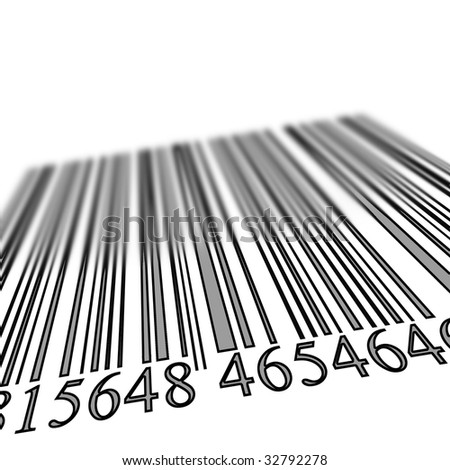 grey bar code on a white background
