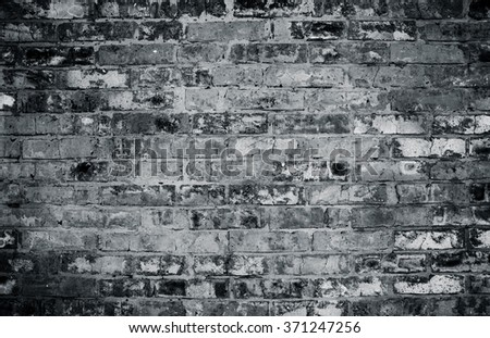 grey brick wall - stock photo
