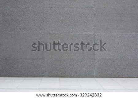 Grey cement wall and floor, granite concrete tiles, abstract background - stock photo
