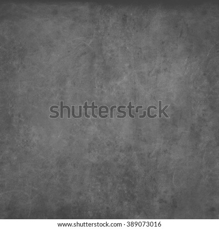 Grey Chalkboard Texture Abstract Dark Blackboard Background Classroom Chalk Erased School Vintage Monochrome Square - stock photo