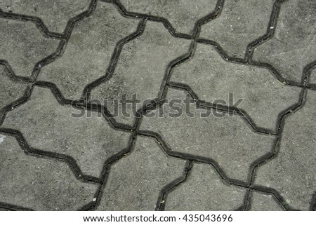 grey color road concrete block background - stock photo