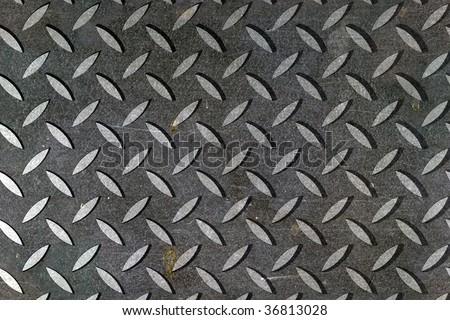 grey diamond metal background - stock photo