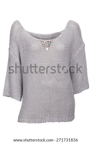 grey female sweater