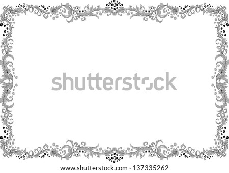 Grey frame. - stock photo