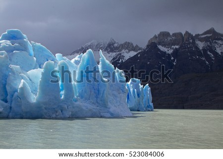Grey Glacier, National Park Torres del Paine, Southern Patagonia, Chile.