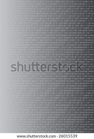 grey gradient background with a pattern out of binaer-code