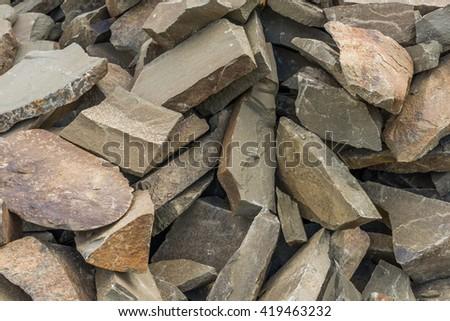 Grey granite gravel , Texture , Background - stock photo