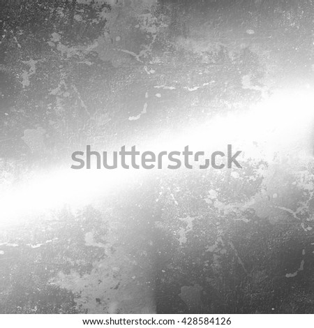 grey grunge background old wall texture and white stripe of light - stock photo