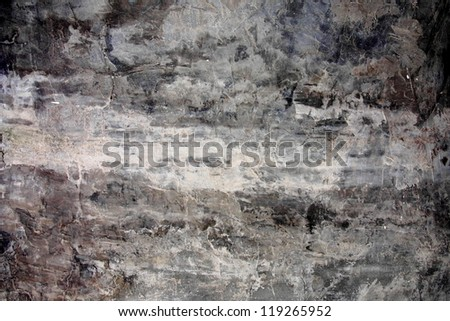 Grey grunge / dirty background with a lighter central stripe for copy space. - stock photo