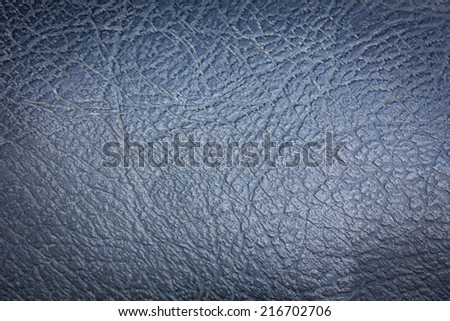grey leather vintage background, vignette, closeup - stock photo