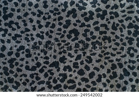 Grey leopard pattern. Spotted animal print as background. - stock photo
