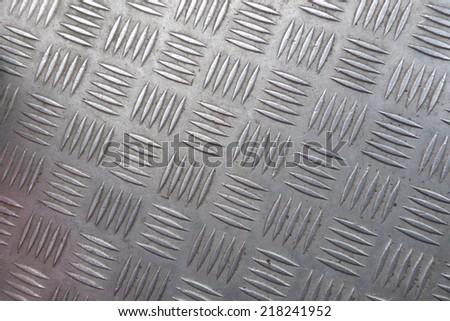 grey metal plate - stock photo