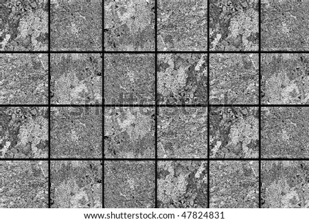 grey  mosaic pattern background - stock photo