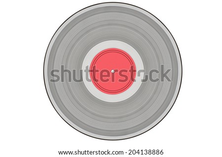 grey music record isolated on white background - stock photo