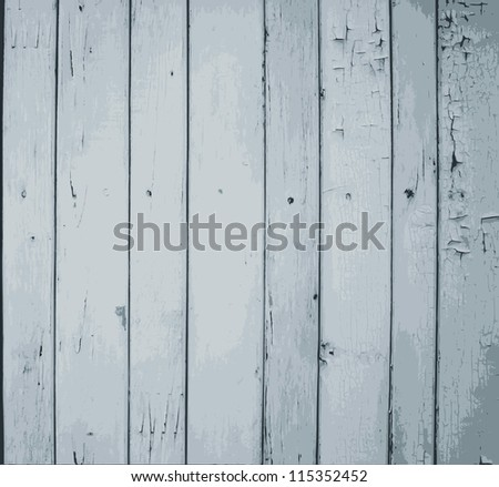 Grey painted wooden planks - stock photo
