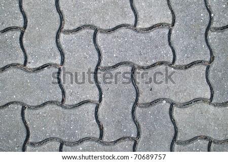 grey paving tiles - stock photo